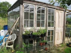 recycled windows greenhouse | diy greenhouse