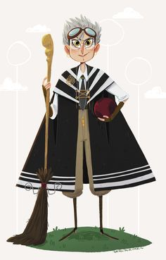 My Rolanda Hooch for this weeks 2 guys 1 girl harry potter design challenge. Cant wait to see everyone else's! :)