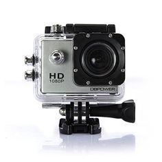 DBPOWER® HD 1080P Action Kamera wasserdicht mit verbesserter Batterie und Kostenlos Zubehör Kits (Silber) - http://kameras-kaufen.de/db-power/silber-dbpower-hd-1080p-action-kamera-mit-2-und