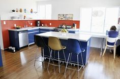 10 Real-Life IKEA Kitchens - like the design, would change the colors