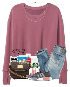 """""""Should I do a morning/night routine?"""" by cassieq6929 ❤ liked on Polyvore featuring PhunkeeTree, American Eagle Outfitters, adidas and Sole Society"""