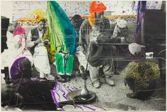 Sigmar Polke, Untitled (Quetta, Pakistan), 1974/1978. Gelatin silver print with applied color,   (13 February 1941 – 10 June 2010) was a German painter and photographer.  Polke experimented with a wide range of styles, subject matters and materials. In the last 20 years of his life, he produced paintings focused on historical events and perceptions of them.