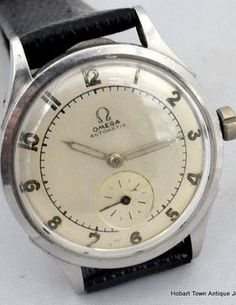 Classic Vintage Omega Early Bumper Automatic 1944 Original Military Style   {k