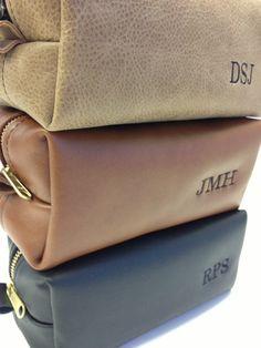 Personalized Dopp Kit Travel Bag Leather by FelixStreetStudio