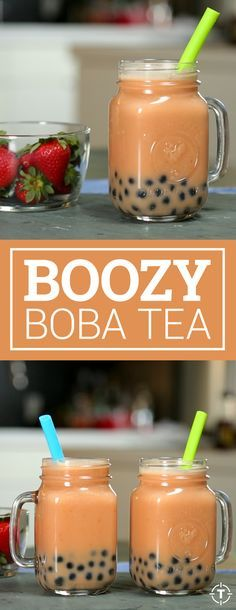 Get a nice bourbon buzz on while enjoying the squishy tapioca blobs that make bubble tea so damn irresistible.