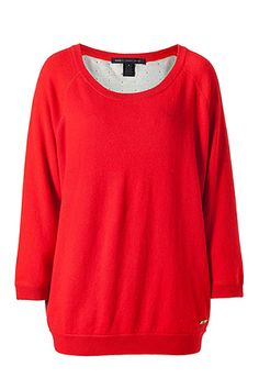 MARC BY MARC JACOBS  The Mandee Poppy Red 3/4 Sleeves Sweater