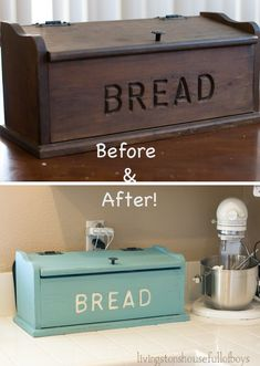 turn a thrifted bread box into a charging station @Allison j.d.m j.d.m j.d.m j.d.m House! Full of Boys
