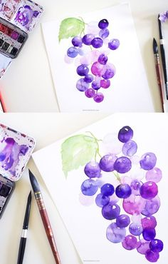 Learn loose watercolor painting in today& detailed tutorial. You& be able to learn few techniques of depth,shadow and more. Watercolor Pencil Art, Watercolor Fruit, Watercolor Projects, Watercolour Tutorials, Watercolor Techniques, Watercolor Illustration, Watercolor Flowers, Easy Watercolor Paintings, Watercolors
