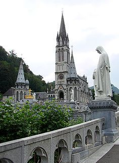 our lady of lourdes basilica. lourdes, france… It's beautiful in person Bernadette Lourdes, St Bernadette Soubirous, Santa Bernadette, Lourdes France, La Salette, Cathedral Basilica, Our Lady Of Lourdes, France Photos, Immaculate Conception