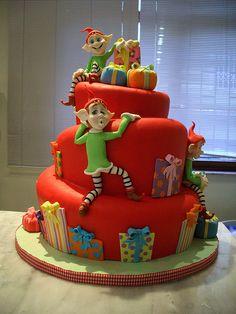 christmas pretty elf cake
