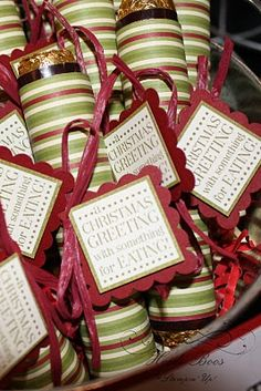 Rolo Candy Treats wrapped in DSP - Tags Til Christmas stamp set - Heidi Boos