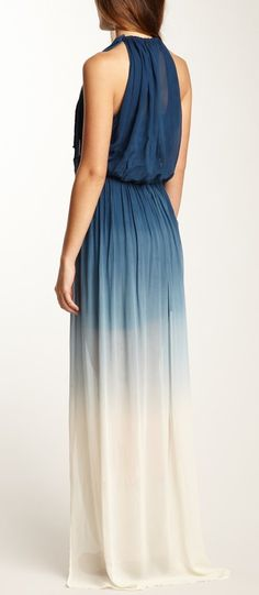 Ombre Maxi Dress, love the way it hangs