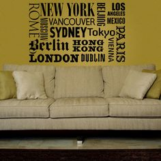 WallStar Graphics // World Famous Places Wall Decal