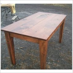 Four and half foot table-desk reclaimed wood - Glengarry Harvest Tables - Johnsons Antique Store