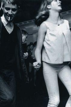 Teens on the dance floor, 1960's