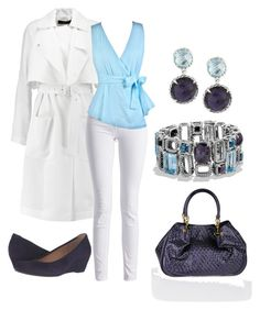 purple and blue work outfit by hillarymkent on Polyvore featuring TIBI, Barbour International, Gabor, Tod's and David Yurman