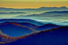 Sunrise over the Blue Ridge Mountains / North Carolina