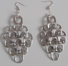 Popular DIY Crafts Blog: How to Make Pop Tabs Necklace & Earrings