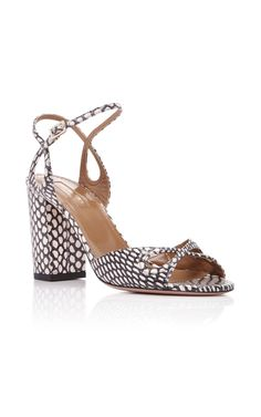 Snake Vera Sandals by AQUAZZURA Now Available on Moda Operandi