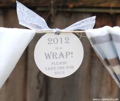 New Year's Eve Favors…It's a wrap! #NewYearsEve