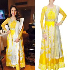 GET THIS LOOK- Madhuri Dixit looks radiant and stunning in an outfit by Varun Bahl. Shop now: http://www.perniaspopupshop.com/designers/varun-bahl  #celebritystyle #varunbahl #anarkali #elegant #perniaspopupshop #shopnow #happyshopping