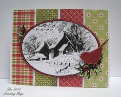 Snowy Postcard dynamic duos and deconstructed sketch challenge by quilterlin, via Flickr
