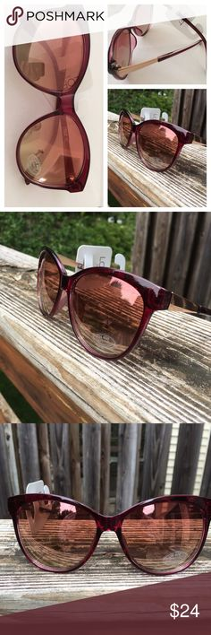 💕FIRM Flash Sale💕 Loft | Mirrored Sunglasses These Loft sunglasses are a pinkish burgundy color - really very pretty iridescent color on the frames with goldtoned hardware. The mirroring is a mix of pink and gold for the lenses. I like the level of reflection on these sunnies a lot - a little more subtle than the super reflective mirrored ones that are on trend right now. LOFT Accessories Sunglasses