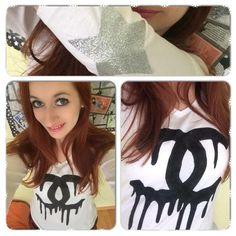 DIY ☼ Customisation Tee shirt façon Chanel ☼ ♡  DIY à petit prix ! ♡