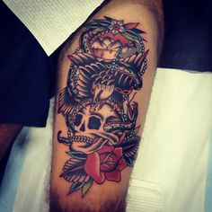 goodluckmelbourne:  Done by kirk jones @kirk_jones #goodlucktattoo