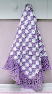 Checkered blanket crochet free pattern