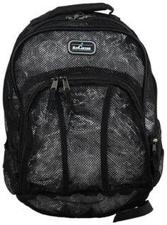 "Eastsport 18/"" Mesh Backpack w// Adjustable Padded Straps Metal Zippers School Bag"