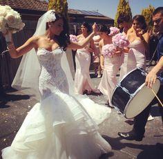 Imagem de wedding, bride, and dress