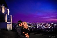 Engagement Session at Griffith Observatory Los Angeles Twilight Dusk Hour