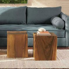 Convertible Wood Cube Accent Tables | VivaTerra