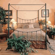 Knot Iron Canopy Bed by Stone County Ironworks
