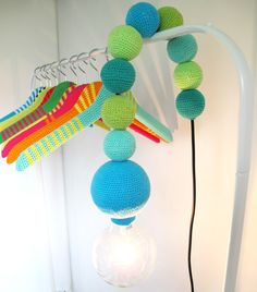 DIY crocheted lamp. Or buy it at signerat.se