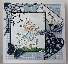 Love this Lili of the Valley stamp and the Memory Box die cuts!
