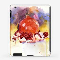 Чехол iPad «Акварель гранат (натюрморт)»