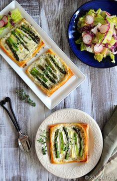 Mascarpone Asparagus Tarts