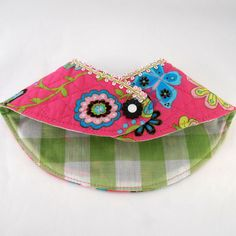 Pink Retro Floral Dog Bandana Pet Reversible by Lifesruffboutique, $9.00