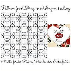 Digital Hearts: Pattern for stitching, crocheting or beading - Muster für das Sticken, Häkeln oder Perlenfädeln