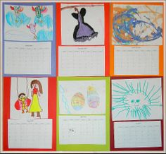 make calendars for the new year with children's art