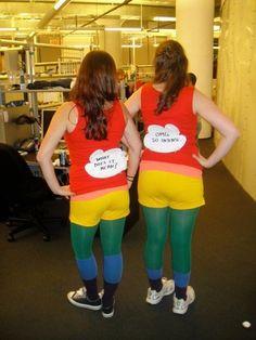 rainbow costume bahahahahaha...clever