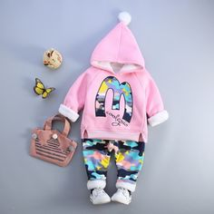 Baby Girls Boys Clothes Set 2017 Autumn Winter Infant Clothing Plus Velvet Thicken Costume for Kids Toddler Baby Suits Toddler Outfits, Boy Outfits, Camouflage Pants, Autumn Clothes, Baby Models, Baby Pants, Tops For Leggings, Baby Winter, Outfit Sets