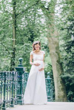 noni - Hochzeitskleid für Schwangere (www.noni-mode.de - Foto: Le Hai Linh)