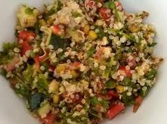 Costco has a delicious and light quinoa salad available in their deli section.  Like most things at Costco though, it is too much for ju...