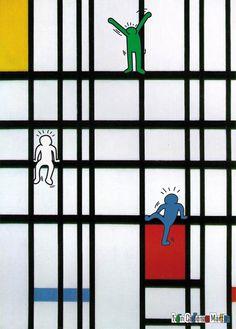 Diseñando Pensamientos: Keith Haring + Piet Mondrian