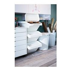 IKEA - SORTERA Waste sorting bin with lid white/Getting organized//Declutter/ Recycling Storage, Recycling Station, Storage Bins, Diy Storage, Storage Solutions, Cool Storage Ideas, Recycling Furniture, Recycling Ideas, Plastic Storage