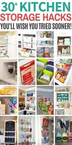 30 Sanity saving genius kitchen organization hacks that are guaranteed to keep a tidy kitchen. They're so clever you'll regret not having tried them sooner! organization hacks Genius Kitchen Organization Hacks - This Tiny Blue House Organisation Hacks, Organizing Hacks, Organizing Your Home, Diy Organization, Diy Hacks, Tupperware Organizing, Tupperware Storage, Organization Ideas For The Home, Dollar Tree Organization