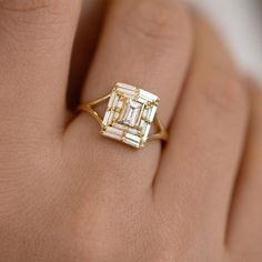 Baguette Engagement Ring, Classic Engagement Rings, Platinum Engagement Rings, Morganite Engagement, Engagement Ring Settings, Art Deco Engagement Rings, Baguette Ring, Baguette Diamond Rings, Designer Engagement Rings